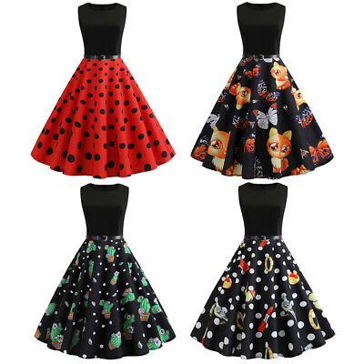 e23c639ed21 Cactus Womens 50s Pinup Swing Party Rockabilly Dress Vintage Evening  Cocktail