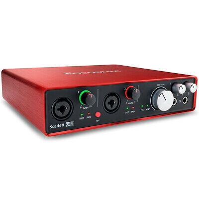 Focusrite SCARLETT 6I6 2nd Gen 2x4 USB Audio Interface with Pro Tools, New!