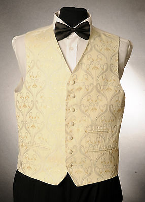 W - 1058. Gold And Silver Floral Waistcoat Wedding/ Dress/ Formal
