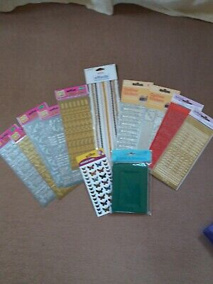Selection Of Card Making Stickers , Braid And Cards