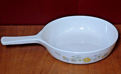 "Corning Ware Floral Bouquet Skillet P-83-B 70's Style Daisy 6-1/2"" EUC"