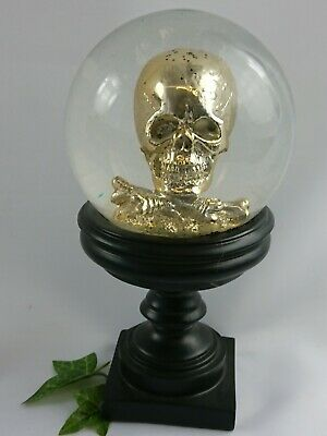 large gothic Snow Globe Ornament skull Home Decoration