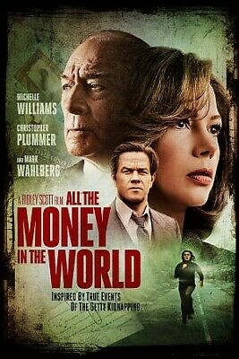 All The Money in The World, DVD, 2018, UPC 043396527829