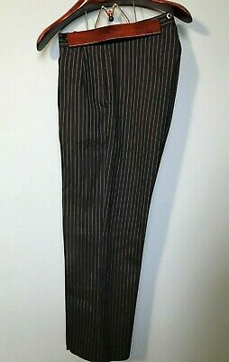 Vintage 1940's 1950's bespoke wool morning trousers size 30 32