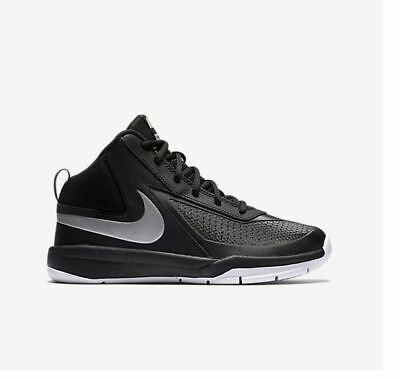 NIKE YOUTH TEAM HUSTLE D 7 BASKETBALL SHOES SZ-3Y Black//Volt-White 747999 002