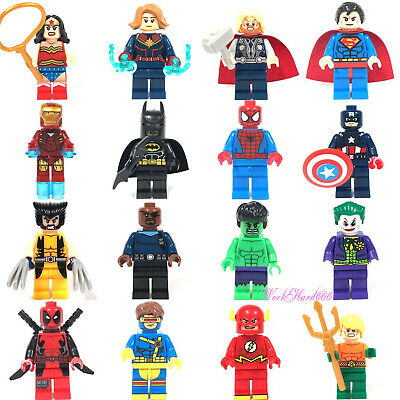 16 Pcs Set Dc Superhero Avengers 4 Captain Marvel fit Lego Mini figure