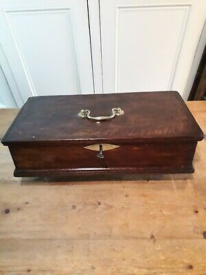 Antique 18th century oak document box