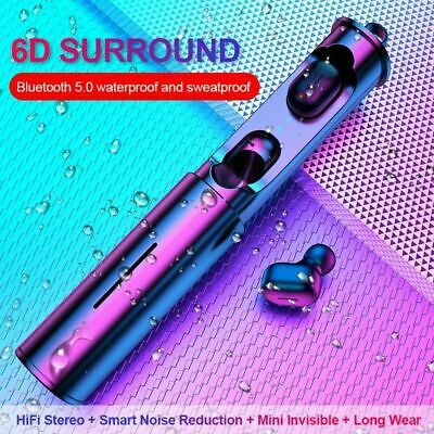 Mini Wireless Earbuds Bluetooth 5.0 Stereo In-Ear TWS Headset Earphone Earpiece