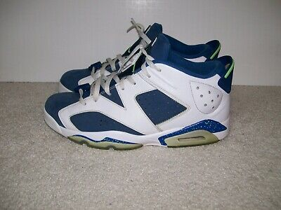 1b5791dfe1cf3d SZ 11 Nike Air Jordan Retro 6 VI 304401-106 Ghost Green Seahawks Blue IV