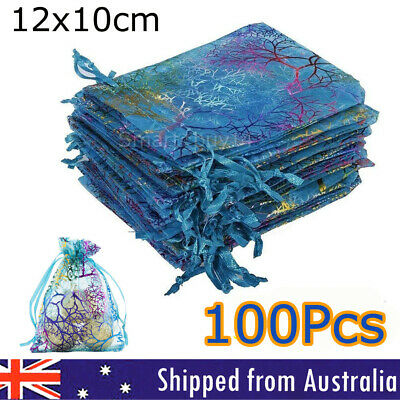 100 Organza Bags 9x12 Wholesale Wedding Jewellery Candy Gift Bag Xmas Party OZ