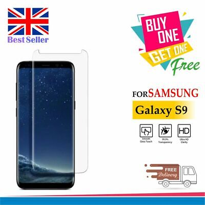 100% Genuine Tempered Glass Screen Protector For Samsung Galaxy S9 Clear Glass