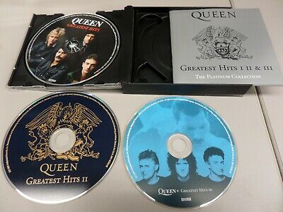 Queen The Platinum Collection Greatest Hits I II + III VG With Sleeve Case Book