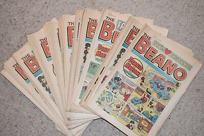 Job lot of Beano Comics (42 issues) from the year 1985
