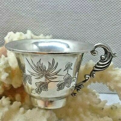Antique Chinese Export Silver Niniature Cup Signed