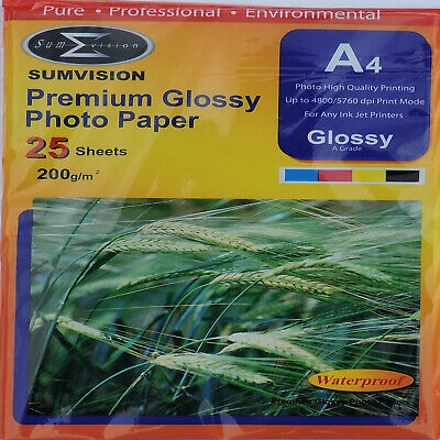 Sumvision A4 200gsm Premium Gloss Photo Paper (25, 50, Sheets)