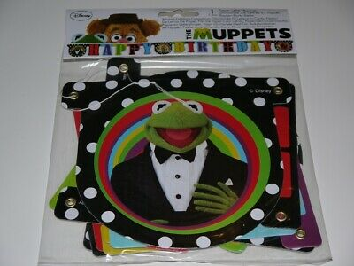HAPPY BIRTHDAY BANNER The Muppets Kermit Partyware Party Decoration Fun  Cartoon