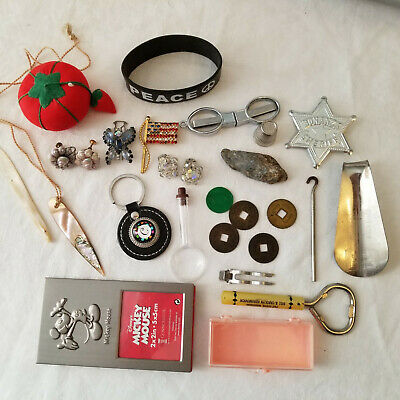Junk Drawer Lot Vintage to Current Items Misc Stuff