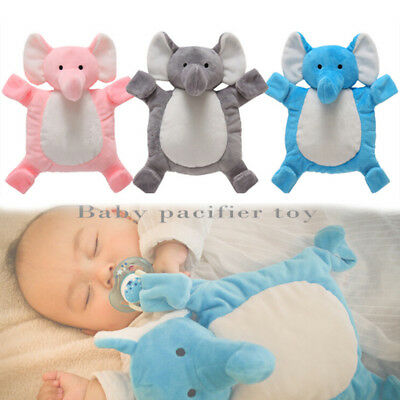 Safety Baby Pacifier Chain Plush Animal Toy Infant Soother Nipples Holder Clip