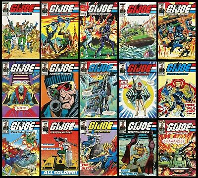 GI Joe European Missions Full Comic Set 1-2-3-4-5-6-7-8-9-10-11-12-13-14-15 Lot