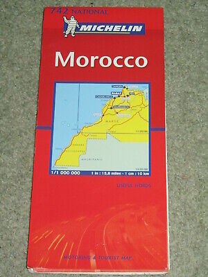 Morocco: Michelin National Map 742. scale 1:1,000,000 - 2003 edition