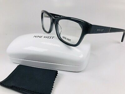 825e40fe92e07 New Nine West NW5128 010 Crystal Charcoal Eyeglasses 52mm with Case   Cloth