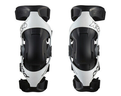 New 2019 Pod K4 2.0 Knee Braces White Pair + Free Bag Motocross Mx Enduro Adult