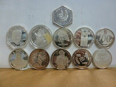 LOT OF (11) Vintage 1 oz Silver Art Rounds .999 Fine