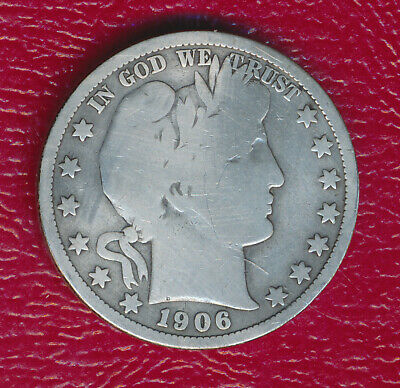 1906-O Barber Silver Half Dollar **nicely Circulated Good Coin** Free Shipping!!