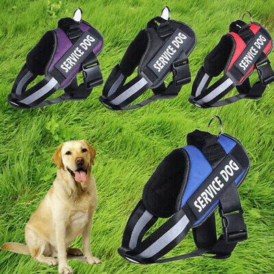 Dog Vest Harness W/ Service Dog Patches Reflective Collar Small Large Medium XL