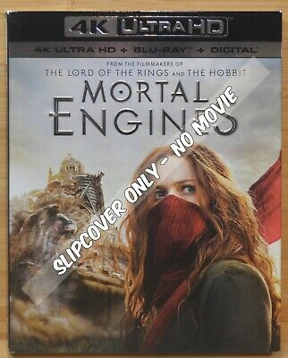 MORTAL ENGINES 4K UHD Blu-ray Slipcover Dust Cover (COVER ONLY- NO MOVIE)