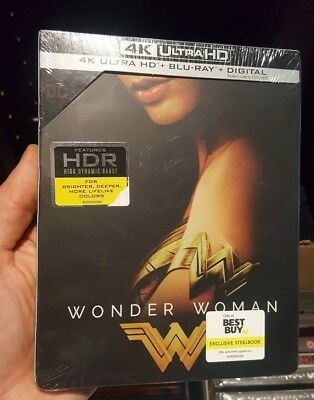 Wonder Woman - Best Buy Exclusive Steelbook (Blu-ray + 4K UHD) BRAND NEW!!