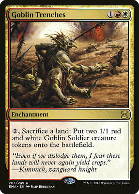 Goblin Trenches Eternal Masters Rare EN NM MTG