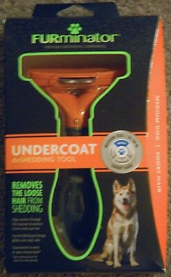 Furminator Undercoat Deshedding Tool (Head + Handle) For Dogs Short Hair M