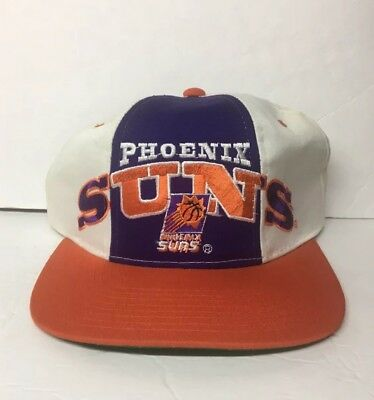quality design cdb10 3d8fa Vintage Nba Phoenix Suns Starter SnapBack Hat Basketball Cap White Purple  Orange