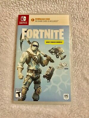 Fortnite: Deep Freeze Bundle - Nintendo Switch - Codes Only - Free Shipping!