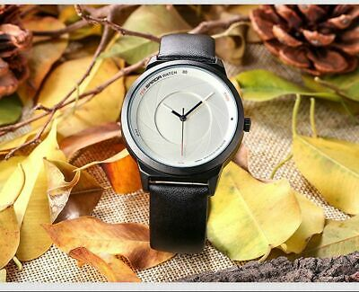 Men's Sports Leather Wristwatches Stylish Trend Waterproof Quartz Two Color Gift