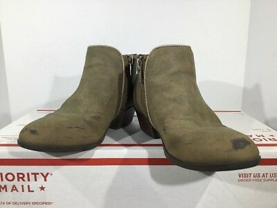 9f0a3b5dee6aa2 Sam Edelman Petty Bootie Kids Girls Size 12 Taupe Zip Ankle Boots Shoes  K9-1714