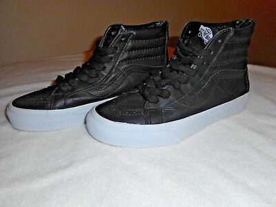 0de2adaa8 VANS OFF THE wall old skool black leather Sk8,zip, high tops Men's ...