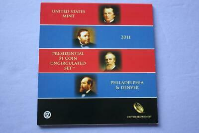 2011 P&d United States Mint Presidential $1 Dollar Uncirculated Coins Set Unc