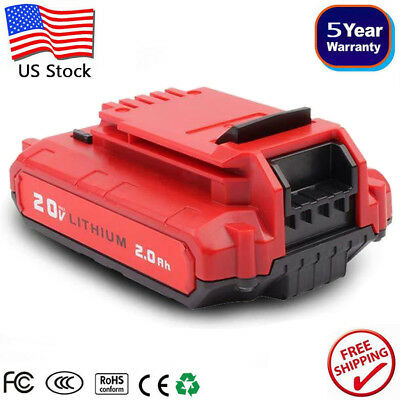 For PORTER CABLE PCC680L 20V 20 Volt Lithium-Ion 2.0Ah Battery PCC682L PCC685LP