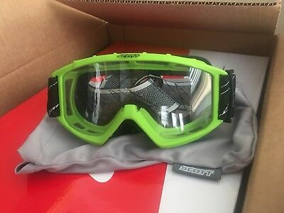 Scott Sports Recoil Xi Motocross ATV Off Road Pit Dirt Bike BMX Goggles Green