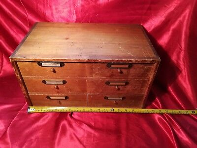 Antique Watchmakers Cabinet 6 Drawer
