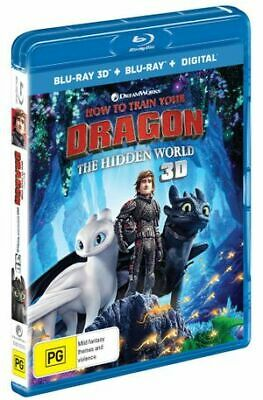 How To Train Your Dragon -The Hidden World (3D Blu-Ray/ Blu-R, 2019) (Region B)