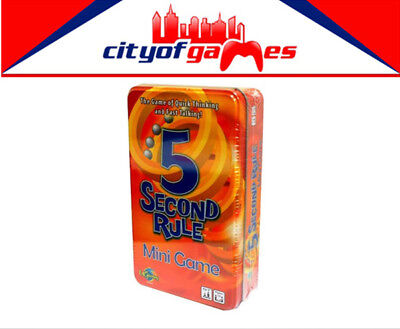 5 Second Rule Tinned Game Tin Mini Game Brand New