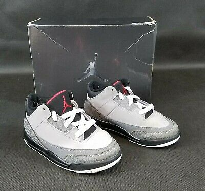 huge selection of 85986 fbb78 Nike Air Jordan Retro 3 Stealth Grey   Black   White   Red Size 9C (