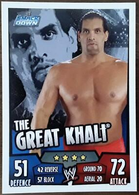 Slam attax rebellion #021 the Great Khali-punjabi plunge-signature move