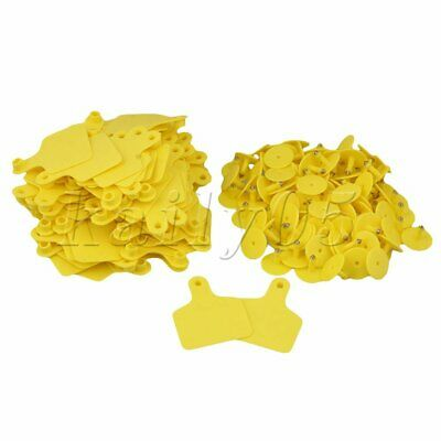 100PCS Sets Cow Cattle Blank Large Livestock Ear Tag 6cmx7.3cm Type 2 Yellow
