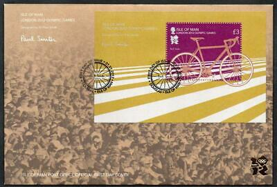 ISLE of MAN 2012 Olympic Games Minisheet FDC