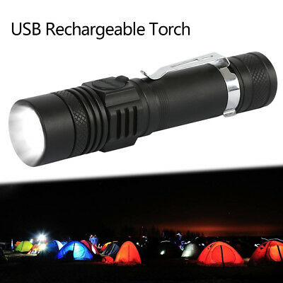 2 Pack 10000lm Shadowhawk CREE XM-L T6 LED Flashlight USB Rechargeable Torch