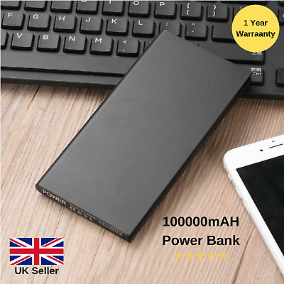 Portable 10000mAh Power Bank Dual USB LED Battery Charger For Samsung iPhone HTC